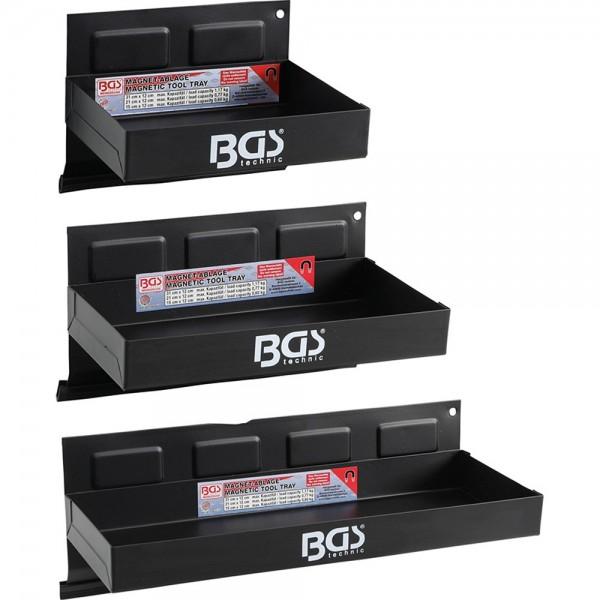 BGS 67150 Magnet-Ablagen-Satz   150 / 210 / 310 mm   3-tlg.