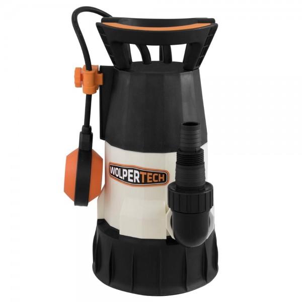Wolpertech Kombi-Tauchpumpe WT400 2in1 400 Watt 7.500 l/h Klar- und Schmutzwasserpumpe