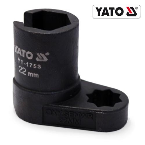 YATO Profi Lambdasonde Schlüssel Lambdasonden Nuss Einsatz Steckschlüssel 22 mm