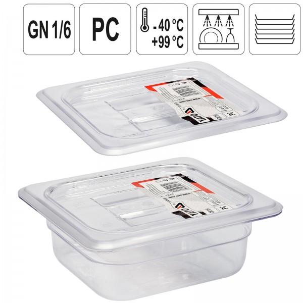 YATO Profi GN Gastronorm Deckel für Behälter Kunststoff 1/6