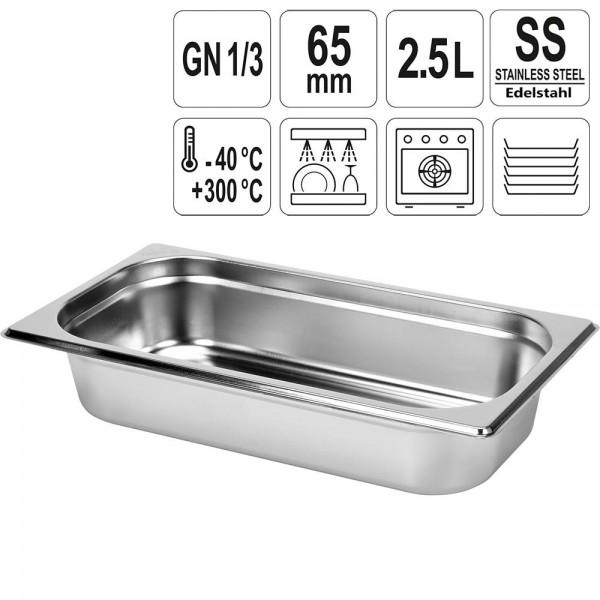 YATO Gastronorm Behälter Edelstahl 1/3 65mm