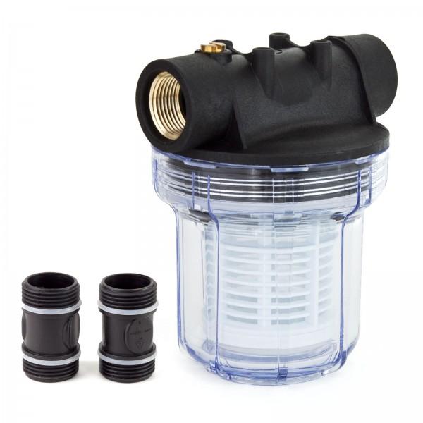 Grafner® universal Filter kurz mit Einsatz geeignet für Hauswasserwerke FI10633 und Gartenpumpen