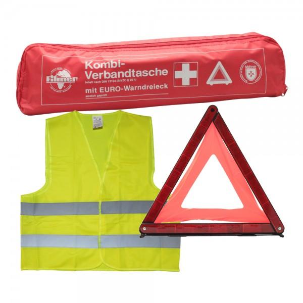 Kfz-Sicherheitsset Verbandskasten Warndreieick Warnweste