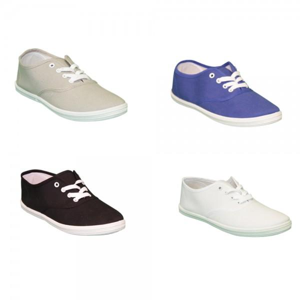 Damen Sneaker Schnürer Leinen Schuhe Dunkelblau oder Grau Größe 36-38