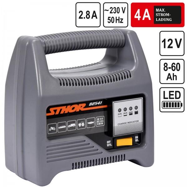 Sthor 12V Batterieladegerät Automatik Batterielader 4A 60Ah