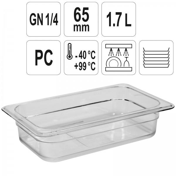 YATO Profi GN Gastronorm Behälter Kunststoff 1/4 65mm