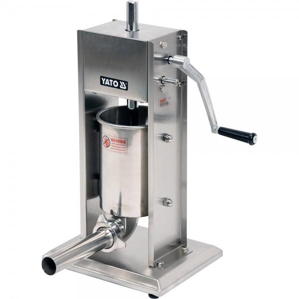 YATO Profi Wurstfüllmaschine Edelstahl 3 Liter YG-03350