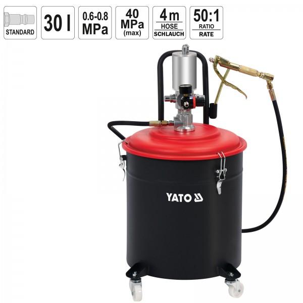 YATO Pneumatik Fettpresse 30 Liter 40 MPa YT-07068