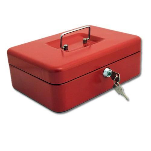 Geldkassette aus Stahl rot