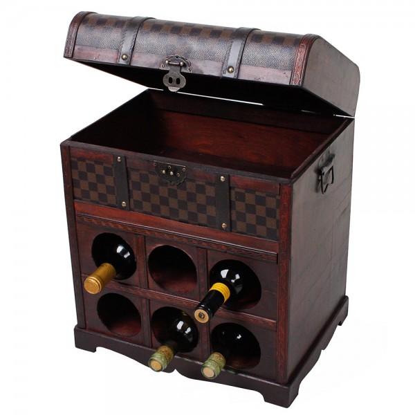 Weinregal im Kolonialstil für 6 Flaschen