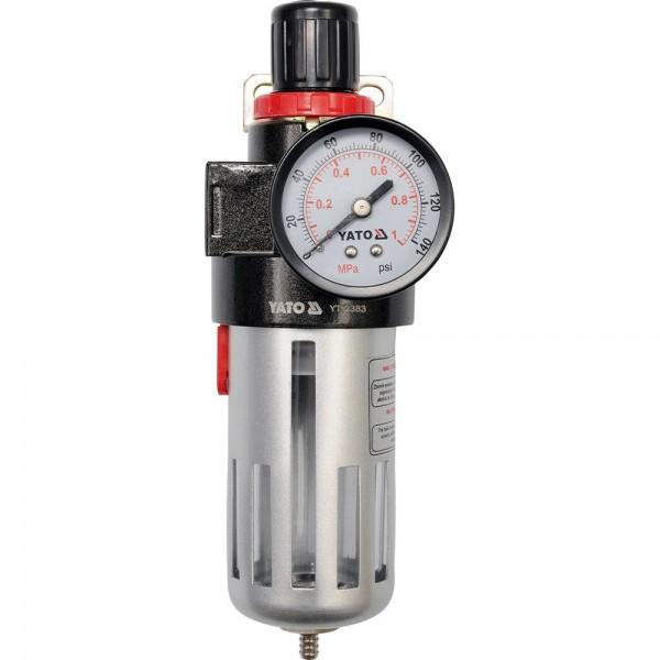 """YATO Profi 1/2"""" Druckminderer mit Wasser-/Ölabscheider YT-2383"""