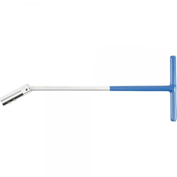 BGS 143 Zündkerzenschlüssel mit T-Griff, Kugelgelenk | SW 16 mm | 375 mm lang