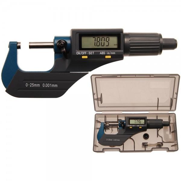 BGS 8427 Digital Bügelmessschraube | 0 - 25 mm Mikrometer