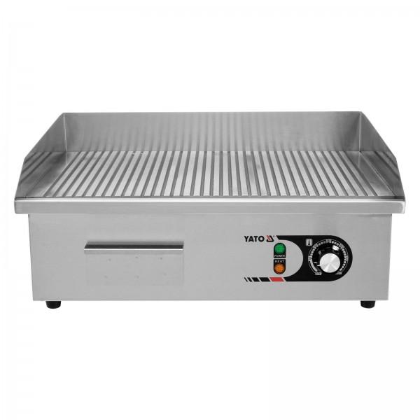 YATO Profi Elektrische Grillplatte 55cm gerillt 3KW YG-04587