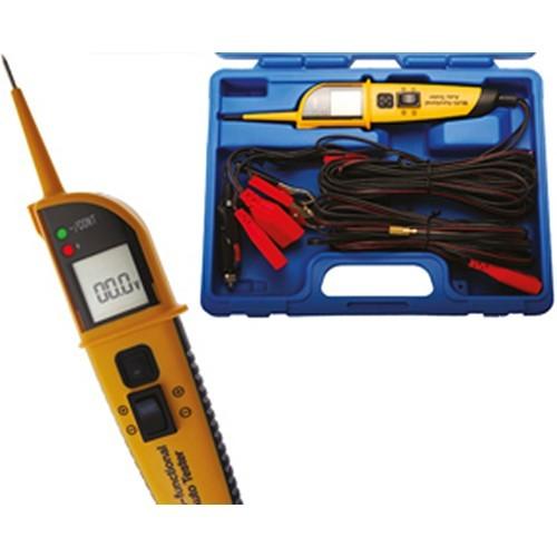 BGS 40105 Spannungsprüfer / Multifunktions-Prüfer mit Display und 8 Funktionen 12-24 V Stromprüfer