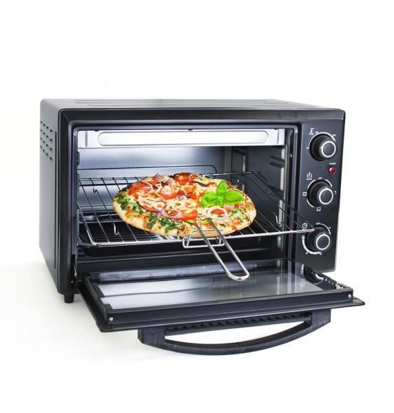 Grafner® Mini - Ofen 30 Liter 1600 Watt mit Timer Mini Backofen Pizzaofen