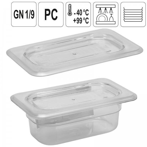 YATO Profi GN Gastronorm Deckel für Behälter Kunststoff 1/9