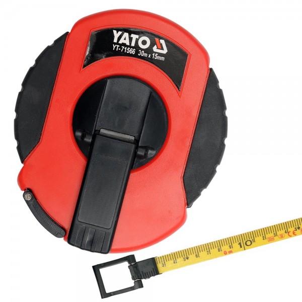 YATO Profi Glasfaser Rollmaßband 30 Meter YT-71566