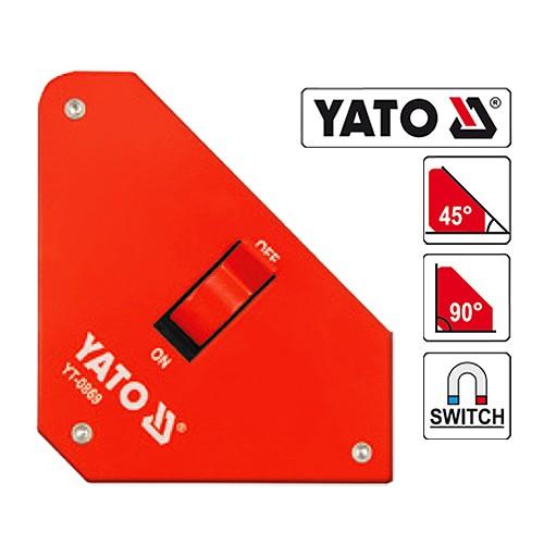 YATO Schweissmagnet Tragekraft 25 Kg Schweisswinkel Magnet