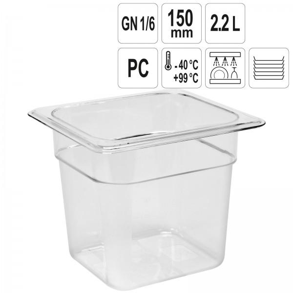 YATO Profi GN Gastronorm Behälter Kunststoff 1/6 150mm