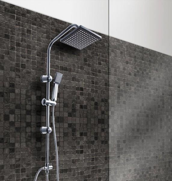 Grafner® Duschgarnitur mit Regenschauerduschkopf und Handbrause Duschsäule R350