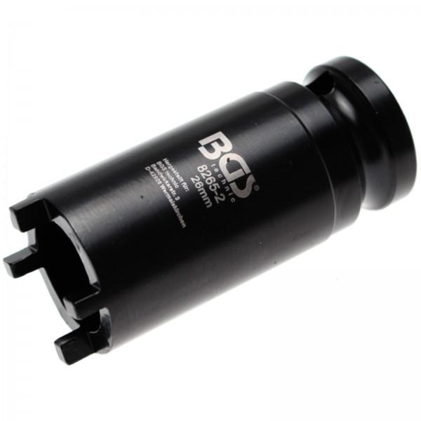 BGS Profi Nutmutternschlüssel | Zapfen außen liegend | 26 mm | KM1 8265-2