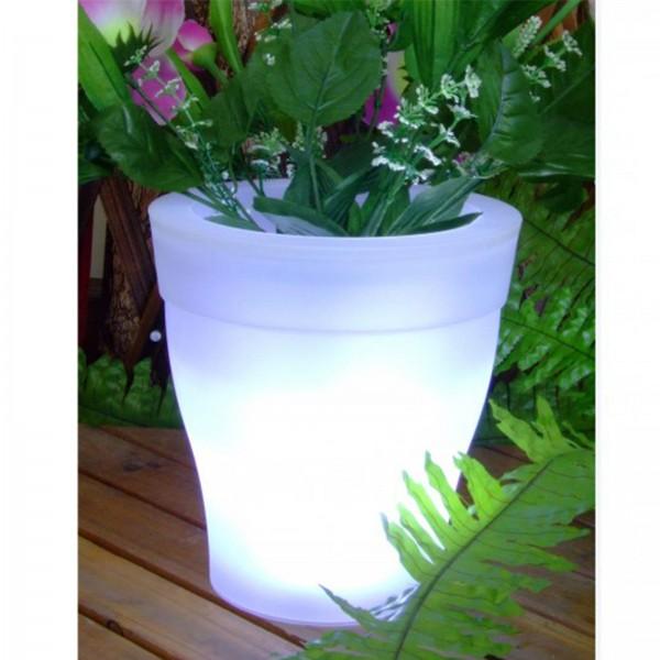 Garden Pleasure LED Solar Blumentopf Ø 16,7 cm Pflanzkübel Blumenkübel