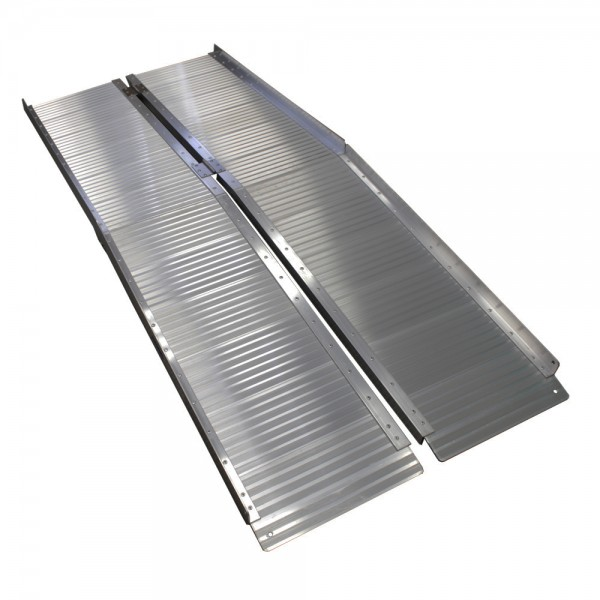 Grafner Alu Auffahrrampe für Rollstühle klappbar 182x73 cm 272 kg