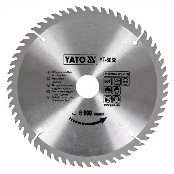 YATO Profi HM Kreissägeblatt 210x30 60T YT-6068