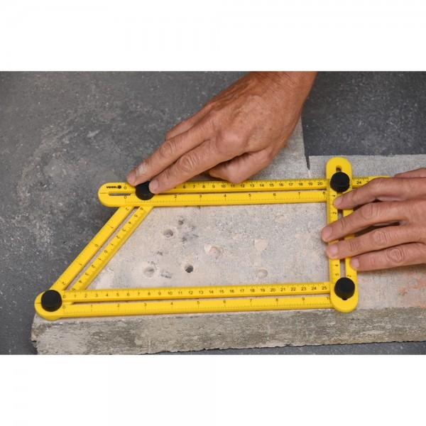 Vorel Multifunktionales Messlineal Winkelmesser 250 mm