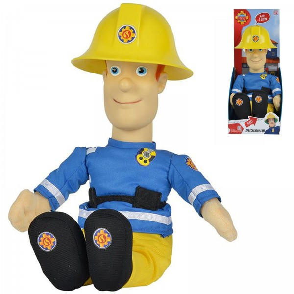 Simba sprechender Feuerwehrmann Sam 30cm Plüschfigur 109258288038