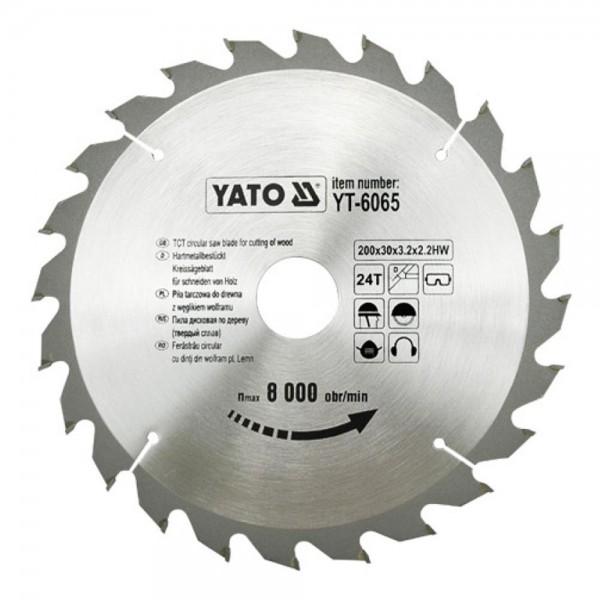 YATO Profi HM Kreissägeblatt 205x18 24T YT-6066