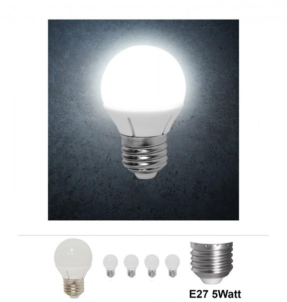 4x Grafner® LED Leuchtmittel E27 5 Watt 6000K Kaltweiss