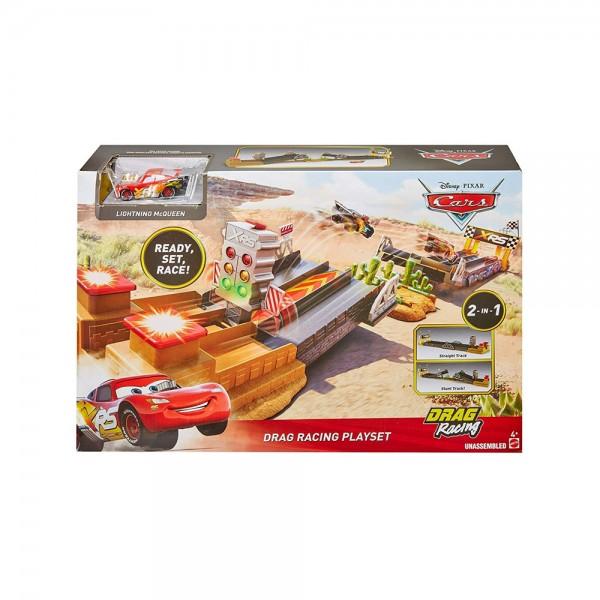 Mattel Disney Cars Xtreme Racing Serie Spielset, Dragster-Rennen
