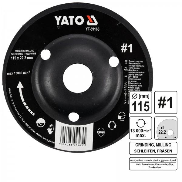 YATO Profi Raspelscheibe für Winkelschleifer 115mm Nr1