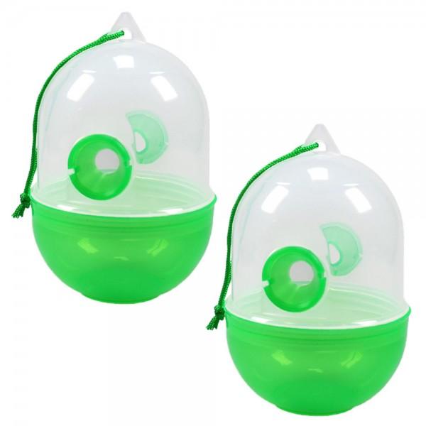 2er Set Wespenfalle grün 12cm giftfrei