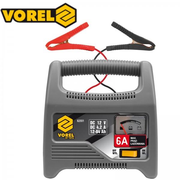 Vorel 12V Batterieladegerät Automatik Batterielader 4,2A 12-84Ah