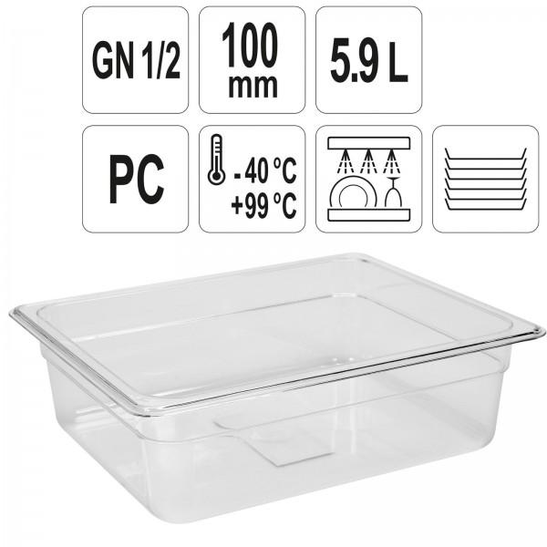 YATO Profi GN Gastronorm Behälter Kunststoff 1/2 100mm