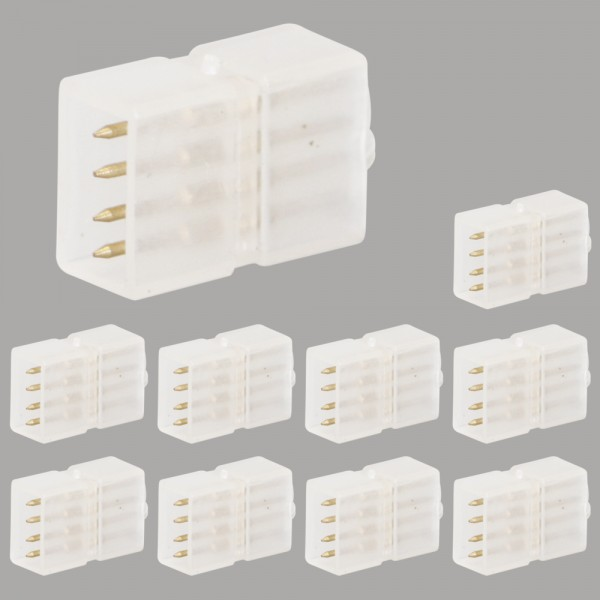 10x Grafner® LED-Stripe Verbindungsstück RGB