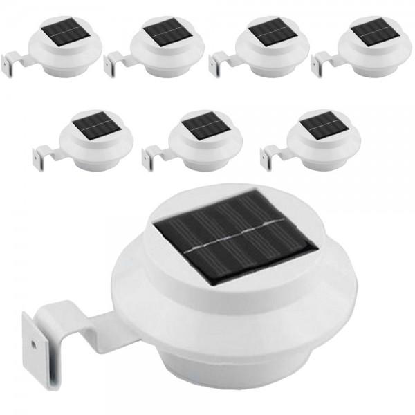 Solar LED Dachrinnenleuchte 8er Set