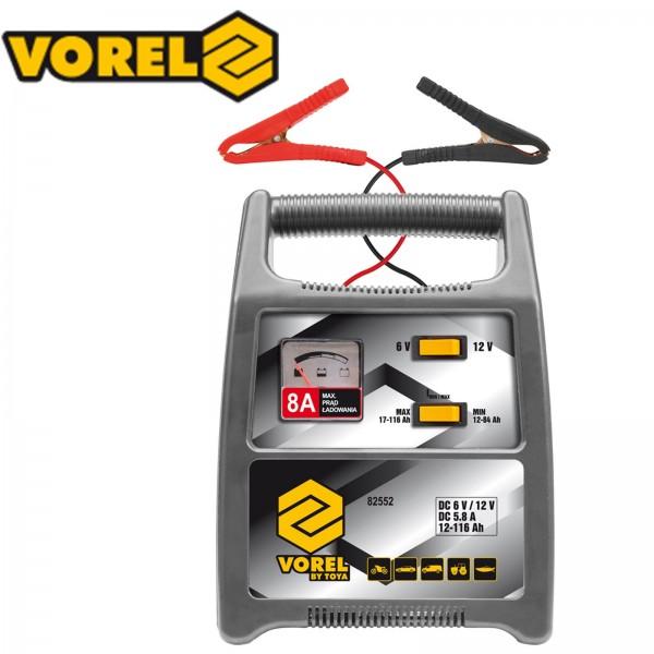 Vorel 12V/6V Batterieladegerät Automatik Batterielader 8A 12-116Ah