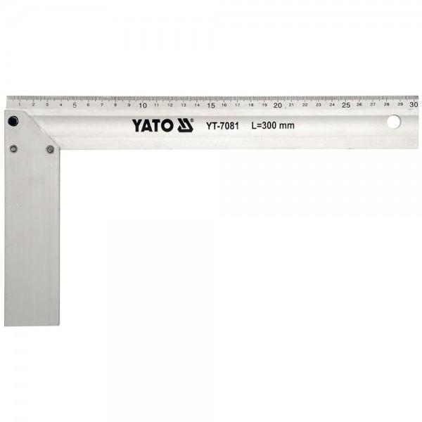 YATO Profi Anschlagwinkel 350mm 45 / 90 Aluminium