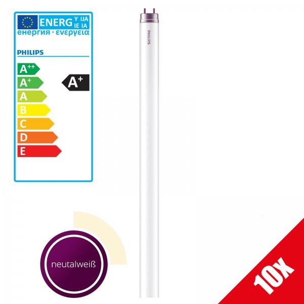 10x Philips LED Leuchtstoffröhre 20 Watt G13 Neutralweiß LED Tube T8 Stabförmige Röhre