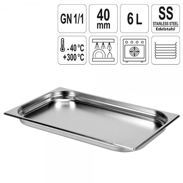 YATO Gastronorm Behälter Edelstahl 1/1 40mm
