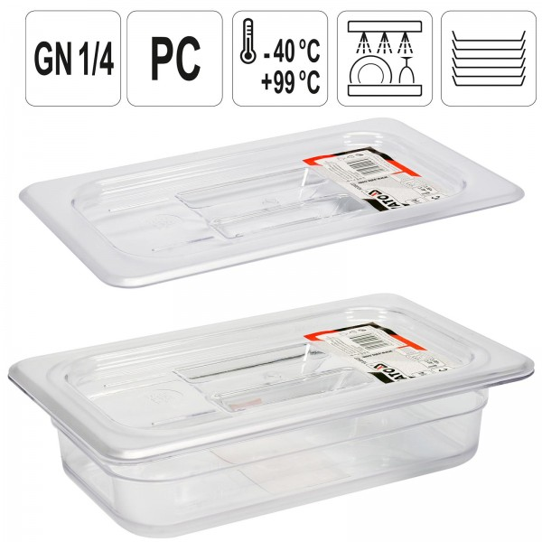 YATO Profi GN Gastronorm Deckel für Behälter Kunststoff 1/4