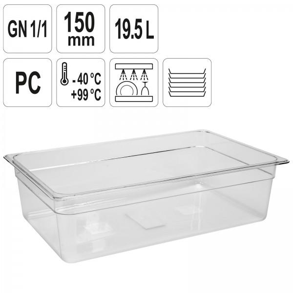 YATO Profi GN Gastronorm Behälter Kunststoff 1/1 150mm