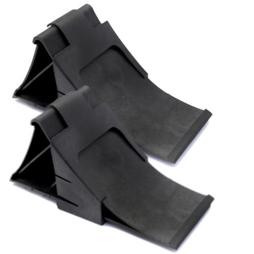 2x Unterlegkeil 2x Halter Bremskeil Unterlegkeile Keile Bremskeile Hartplastik
