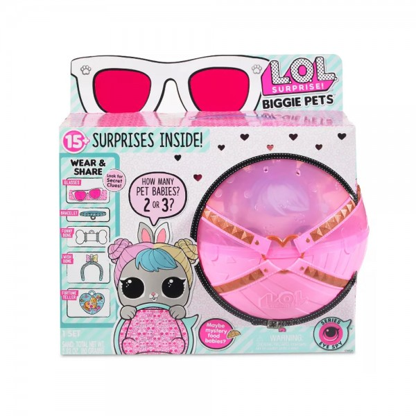 L.O.L. Surprise! Biggie Pet Hop Hop LOL 15+ Überraschungen Figur Spielzeugfigur