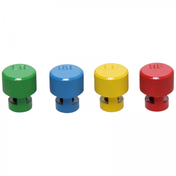 BGS 9271 Farbkodierte Reifenluft-Ablasskappen für RDKSVentile   4tlg.