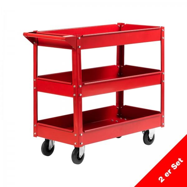 Grafner® 2er Set Montagewagen 3 Etagen MW10844